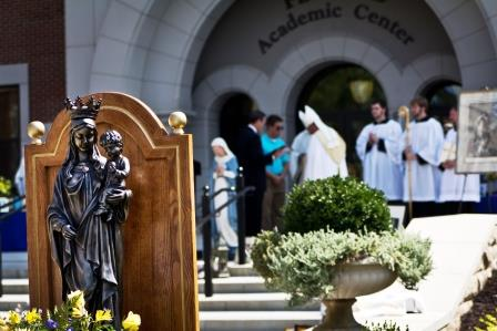 On Sept. 8, when the college was consecrated to Mary, 50 bishops sent congratulatory notes and well-wishers nationwide sent religious objects to be blessed.