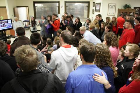 March 13, Habemus Papem: Pope Parties at several locations around campus celebrated the election of Pope Francis.